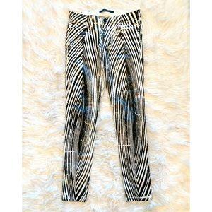 JOES JEANS Zebra Print Skinny Ankle Jeans